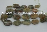CNG5406 20*30mm - 35*45mm faceted freeform ghost gemstone beads