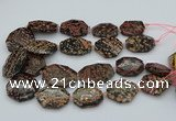CNG5417 20*30mm - 35*45mm faceted freeform red snowflake obsidian beads