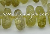 CNG5452 15.5 inches 10*14mm - 12*22mm nuggets lemon quartz beads
