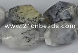 CNG5521 12*16mm - 15*25mm faceted nuggets white opal gemstone beads