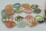 CNG5592 15.5 inches 25*35mm - 30*40mm faceted freeform morganite beads