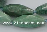 CNG5639 15.5 inches 15*35mm - 18*40mm faceted rice amazonite beads