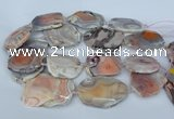 CNG5678 35*45mm - 40*55mm faceted freeform pink botswana agate beads