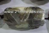CNG568 20*30mm - 25*40mm faceted nuggets botswana agate beads