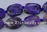 CNG5731 12*16mm - 15*20mm faceted freeform charoite beads