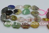 CNG5742 20*30mm - 35*45mm faceted freeform mixed gemstone beads