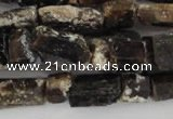 CNG576 5*6mm – 7*12mm nuggets black tourmaline gemstone beads