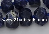 CNG5763 15.5 inches 12*16mm - 15*20mm faceted nuggets sodalite beads