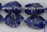 CNG5764 15.5 inches 12*16mm - 15*25mm faceted nuggets sodalite beads