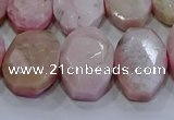 CNG5778 13*18mm - 15*20mm faceted freeform natural pink opal beads