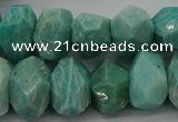 CNG5840 15.5 inches 12*16mm - 13*18mm faceted nuggets amazonite beads