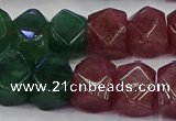 CNG5852 10*14mm - 12*16mm faceted nuggets mixed strawberry quartz beads
