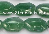 CNG5855 15*20mm - 20*25mm faceted freeform green strawberry quartz beads