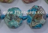CNG5895 15.5 inches 10*14mm - 12*16mm faceted freeform chrysocolla beads