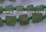 CNG5909 15.5 inches 4*6mm - 6*10mm nuggets rough green apatite beads