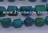CNG5917 15.5 inches 4*6mm - 6*10mm nuggets rough chrysocolla beads
