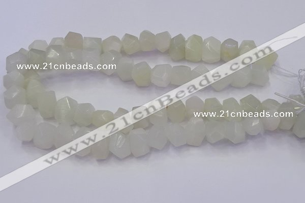 CNG5931 10*14mm - 13*18mm faceted nuggets white moonstone beads