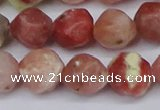 CNG6040 15.5 inches 12mm faceted nuggets rhodochrosite beads