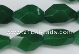 CNG605 14*22mm – 13*28mm faceted nuggets green aventurine beads