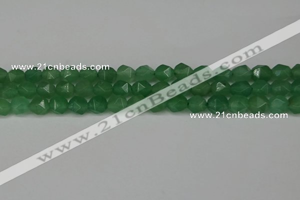 CNG6101 15.5 inches 8mm faceted nuggets green aventurine beads