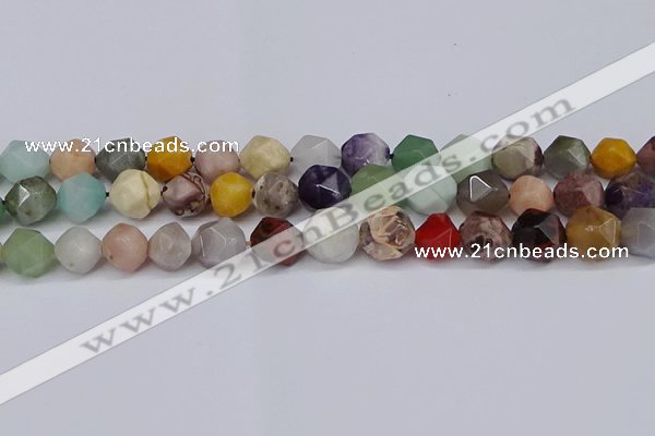 CNG6130 15.5 inches 8mm faceted nuggets mixed gemstone beads
