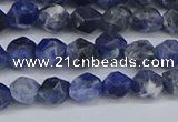 CNG6251 15.5 inches 6mm faceted nuggets sodalite beads wholesale