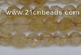 CNG6259 15.5 inches 6mm faceted nuggets coffee cherry quartz beads