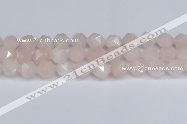 CNG6280 15.5 inches 14mm faceted nuggets rose quartz beads
