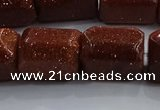 CNG6421 15.5 inches 15*20mm faceted nuggets goldstone beads