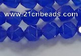 CNG6508 15.5 inches 6mm faceted nuggets blue agate beads