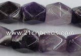 CNG655 15.5 inches 13*18mm faceted nuggets amethyst beads
