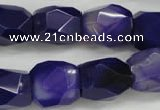 CNG681 15.5 inches 13*18mm - 15*20mm faceted nuggets agate beads