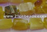 CNG6812 15.5 inches 5*8mm - 8*12mm nuggets yellow opal beads