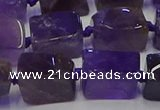 CNG6819 15.5 inches 8*12mm - 10*16mm nuggets amethyst beads