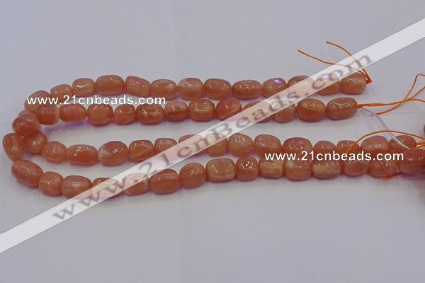 CNG6900 15.5 inches 8*12mm - 10*14mm nuggets moonstone beads
