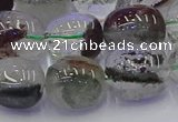 CNG6913 15.5 inches 13*18mm - 15*20mm nuggets green phantom quartz beads