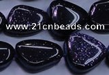 CNG694 15.5 inches 13*18mm - 15*16mm freeform blue goldstone beads