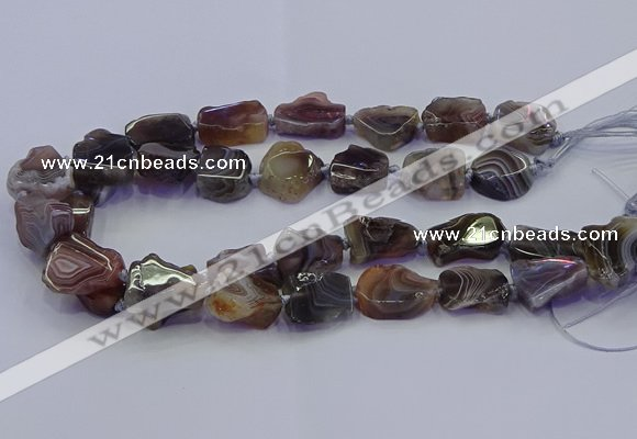 CNG6941 15.5 inches 15*20mm - 18*25mm freeform Botswana agate beads