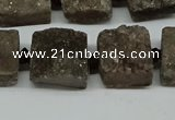 CNG7009 15.5 inches 14mm - 16mm freeform druzy agate beads