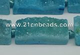 CNG7016 15.5 inches 10*28mm - 12*30mm freeform druzy agate beads