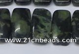 CNG7121 10*20mm freeform double drilled kambaba jasper beads