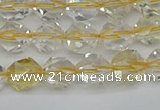CNG7230 15.5 inches 6mm faceted nuggets citrine gemstone beads