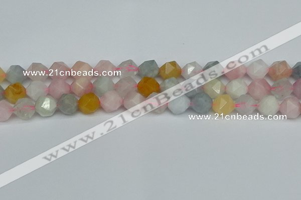 CNG7268 15.5 inches 12mm faceted nuggets morganite beads