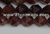 CNG7272 15.5 inches 10mm faceted nuggets orange garnet beads