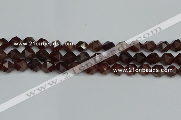 CNG7273 15.5 inches 12mm faceted nuggets orange garnet beads
