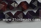 CNG7317 15.5 inches 10mm faceted nuggets purple tiger eye beads