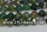 CNG7340 15.5 inches 6mm faceted nuggets Indian agate beads
