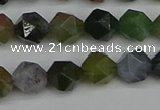 CNG7341 15.5 inches 8mm faceted nuggets Indian agate beads