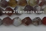 CNG7345 15.5 inches 6mm faceted nuggets botswana agate beads