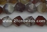 CNG7346 15.5 inches 8mm faceted nuggets botswana agate beads